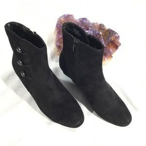 IMPO Black Short Heel ZIP Boots